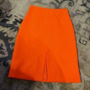Nicole Miller Artelier Orange Pencil Skirt.